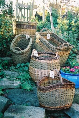 Selection of willow baskets